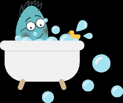 Bill in the bath